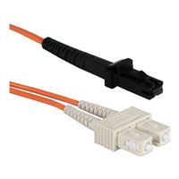 QVS MT-RJ to SC Multimode Fiber Duplex Patch Cable 9.8 ft. - Orange