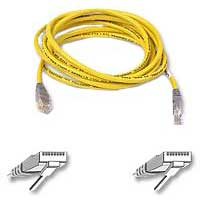 Belkin CAT 5e Yellow Crossover Network Cable 3 Foot