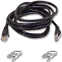 Belkin CAT 5e Black Snagless Network Patch Cable 14 Foot