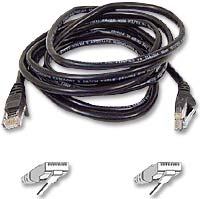 Belkin CAT 5e Black Snagless Network Patch Cable 25 Foot