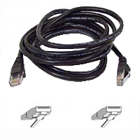 Belkin CAT 5e Black Snagless Network Patch Cable 50 Foot