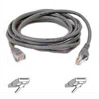 Belkin CAT 5e Gray Snagless Network Patch Cable 25 Foot
