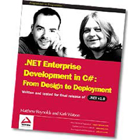WROX Press .NET Enterprise Development: A Case Study from Design to Deployment