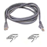Belkin FastCAT 5 Gray Snagless Network Cable 7 Foot