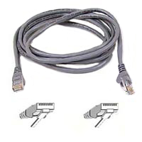 Belkin FastCAT 5 Gray Snagless Network Cable 25 Foot