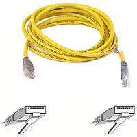 Belkin CAT 5e Yellow Crossover Network Cable 10 Foot