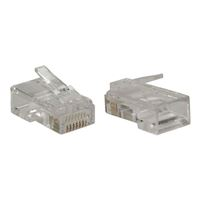 QVS 350MHz CAT5e RJ45 50u Solid/Stranded Crimp Connectors 100 Pack