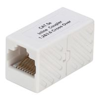 QVS 350MHz CAT5E RJ45 Female to Female Crossover Coupler