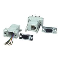 QVS DB9 Female to RJ12 Female Serial/Terminal Modular Adaptor