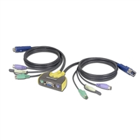 IOGear MiniView Micro 2 Port Audio KVM Switch