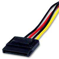 "QVS 28"" 4-Pin Molex to SATA Power Adapter Cable"