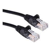 QVS CAT 6 Black Snagless Network Cable 100 Foot