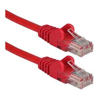 QVS CAT 6 Red Snagless Network Cable 100 Foot