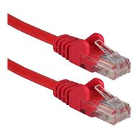 QVS CAT 6 Red Snagless Network Cable 75 Foot