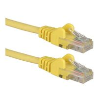 QVS CAT 6 Yellow Snagless Network Cable 75 Foot