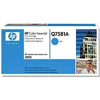 HP Q7581A Cyan LaserJet Toner Cartridge