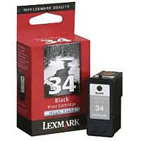 Lexmark 18C0034 #34 Black High-Yield Ink Cartridge