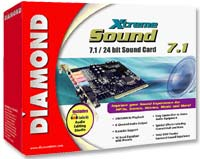 Diamond Xtreme Sound 7.1 PCI Sound Card