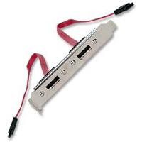 QVS Premium Dual DataPort eSATA II Add-A-Port Slot Mounting Bracket