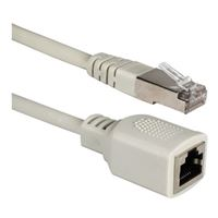 QVS Cat 5e Gray PortSaver Patch Cable 1 Foot