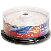 Philips DVD+R 16x 4.7GB/120 Minute Disc 25-Pack Spindle