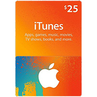 InComm $25 iTunes Music Card