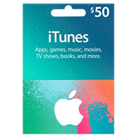 InComm iTunes Music Card $50