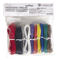 Velleman Stranded Mounting Wire Kit 60m 10-Color