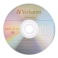Verbatim DVD+R DL 8x 8.5GB/240 Minute Disc 5-Pack