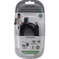 Belkin FastCAT 5e Black Snagless Network Cable 7 Foot