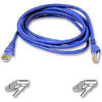 Belkin Cat 6  Blue Snagless Network Patch Cable 3 Foot