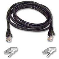 Belkin CAT 6 Black Snagless Patch Cable 25 Foot