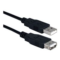 QVS USB 2.0 (Type-A) Male to (Type-A) Female Extension Cable 10 ft. - Black