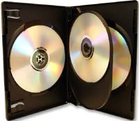 Meritline Products MultiKase 4 Disc DVD Case