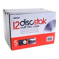 Meritline Products diskStak 12 Disc DVD Case