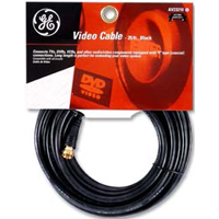 GE Coax Male to Coax Male RG-59 Coaxial Cable 25 ft. - Black
