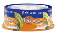 Verbatim LightScribe DVD-R 16x 4.7GB/120 Minute Disc 30-Pack Spindle