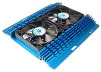 "Vantec Aluminum 3.5"" Hard Drive Cooler with Dual Fans"