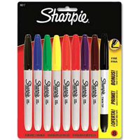 Sharpie Fine Point Multi-Color Marker with Bonus Twin-Tip (Fine/Ultra Fine) Marker