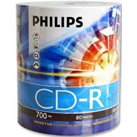 Philips CD-R 52x 700MB/80 Minute Disc 100-Pack