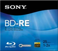 Sony BD-RE 2x 25GB Disc