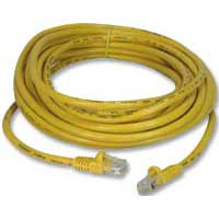 QVS CAT 5e 350MHz Yellow Snagless Network Cable 100 Foot