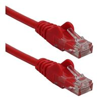 QVS CAT 6 Red Snagless Crossover Network Cable 3 Foot