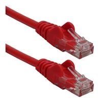 QVS CAT 6 Red Snagless Crossover Network Cable 7 Foot