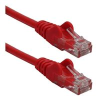 QVS CAT 6 Red Snagless Crossover Network Cable 10 Foot