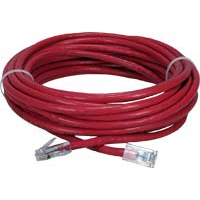 QVS CAT 6 Red Snagless Crossover Network Cable 14 Foot