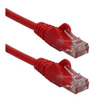 QVS CAT 6 Snagless Crossover Network Cable 25 ft. - Red