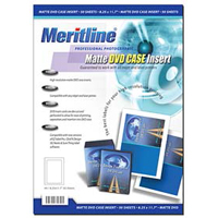 Meritline Products 161-006 Matte DVD Case Insert 50-Pack