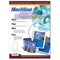 Meritline Products Photo Gloss DVD Case Insert 50-Sheets