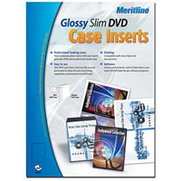 Meritline Products Photo Glossy Slim DVD Case Inserts 50-Sheets